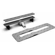 Линейный трап для укладки плитки толщиной от 5 до 7 мм