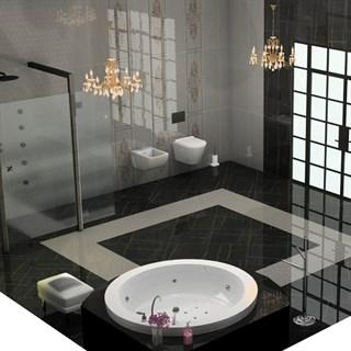 """Проект №1123. Ванная комната в особняке """"Изысканная классика"""""""