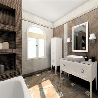 """Проект №1393. Ванная комната в особняке """"Торжественность"""""""