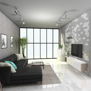 Проект №1781. Квартира-студия в современном стиле эко-лофт