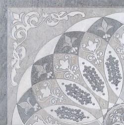 HGD/B37/SG1550L Декор Монтаньоне серый лаппатированный 1/4 розона 40,2х40,2х8 - фото 31018