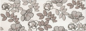 STG/A182/15010 Декор Ньюпорт Цветы коричневый 15х40х8