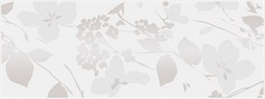 MLD/A67/15000 Декор Вилланелла Цветы белый 15х40х8