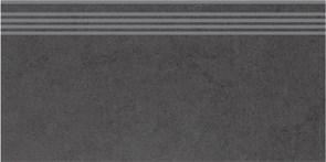 DP603400R/GR Ступень Фьорд черный обрезной 30х60