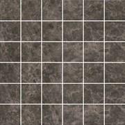 MM5249 Декор Мерджеллина коричневый тёмный полотно 30,1х30,1х7