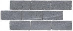BR023 Бордюр Роверелла серый мозаичный 34,5х14,7х11