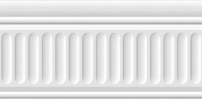19048/3F Бордюр Бланше белый структурированный 20х9,9х9,2