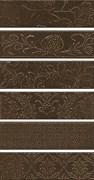 AD/D333/6x/2926 Панно Кампьелло коричневый, 6 частей 8,5х28,5 (размер каждой части)  51х28,5х9