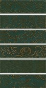 AD/E333/6x/2926, Панно Кампьелло зеленый, 6 частей 8,5х28,5 (размер каждой части) 51х28,5х7
