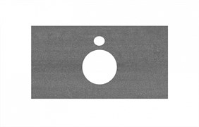 PL1.DD500600R\80 Спец. изделие для накладных раковин 80 см Про Дабл антрацит