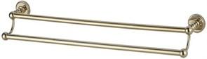 4624D Держатель для полотенца 60см двухрядный Aquanet, золото (189279)