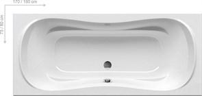 Ванна CAMPANULA II 180x80 белая