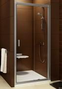 Дверь душевая Ravak BLDP2 - 110 блестящий + Грапе