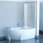 шторки для ванн CVSK1 ROSA 140/150 L сатин+транспарент