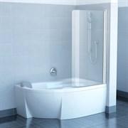 шторки для ванн CVSK1 ROSA 140/150 R белая+транспарент
