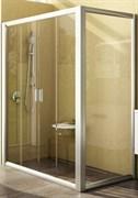 Дверь душевая Ravak RPS-80 белая+Грапе