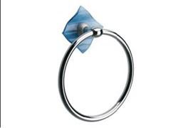 Кольцо для полотенец Glass синий